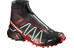 Salomon Unisex Snowcross CS Shoes Black/Radiant Red/White